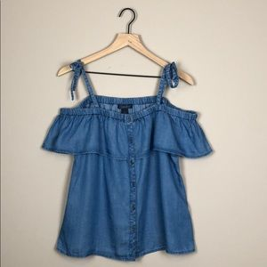 NWT Lucky Brand Jean Top (Size Medium)